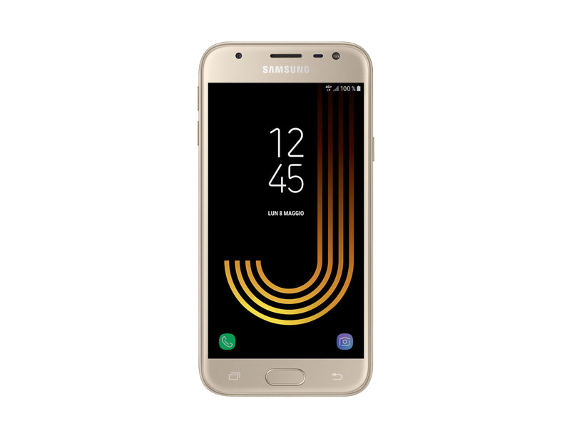 "SMARTPHONE SAMSUNG GALAXY J3 (2017) SM J330F DUAL SIM 5"" SUPER AMOLED 16 GB QUAD CORE 4G LTE WIFI BLUETOOTH 13 MP ANDROID REFURBISHED GOLD"