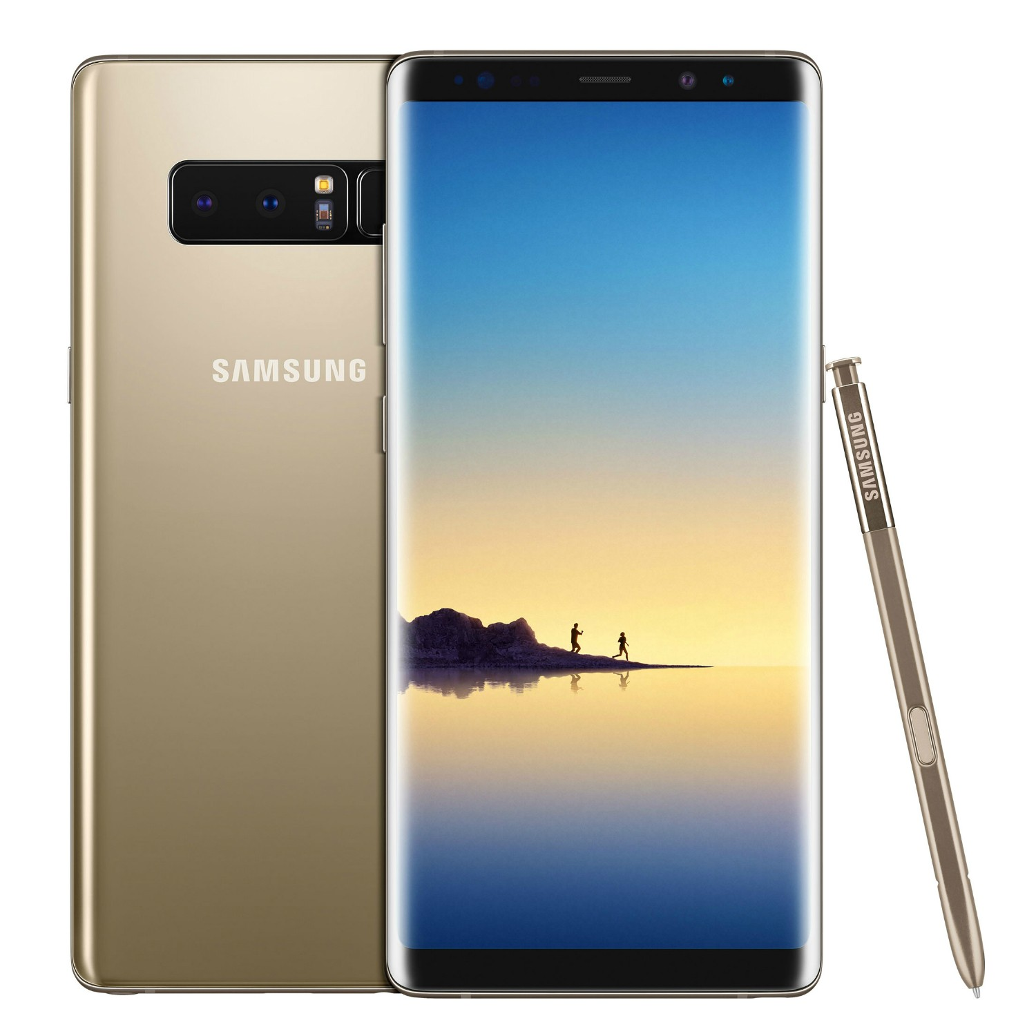 "SMARTPHONE SAMSUNG GALAXY NOTE 8 DUAL SIM SM N950F 6.3"" DUAL EDGE SUPER AMOLED 64 GB OCTA CORE 4G LTE WIFI 12 MP + 12 MP ANDROID REFURBISHED MAPLE GOLD"