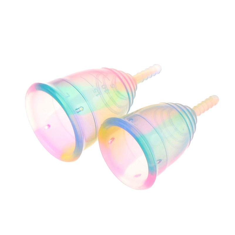 1PCS Colorful Women Cup Medical Grade Silicone Menstrual Cup Feminine Hygiene menstrual Lady Cup Health Care Period Cup