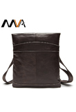 MVA Male Bag Genuine Leather Messenger Bag Men Leather Shoulder Bags male Small Casual Crossbody Bags for Man mini ipad Flap 703