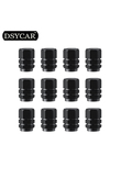 * DSYCAR 12Pcs/lot Universal Car Moto Bike Tire Wheel Valve Cap cover Car Styling for Fiat Audi Ford Bmw toyota VW Lada opel Kia