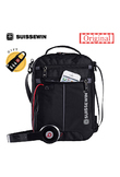 Swiss Messenger Shoulder Bag 11 inch Black Bag for Ipad handy crossbody bag for students Casual Oxford Messenger Satchel
