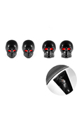 * DSYCAR 4Pcs/lot Skull Moto Bicycle Car Tires Wheel Valve Cap Dust Cover car styling for Universal Cars Motorcycle Decorative