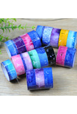 10pcs 1.5cm*2m DIY Sticky Adhesive Sticker Decorative Scrapbooking Washi Tape Star series cartoon tape Color Randomly 0070