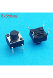 6X6X6 DIP Tactile Tact Mini Push Button Switch Micro Switch Momentary 6*6*6mm