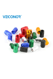 4PCS Universal Aluminum Hexgon Style Auto Car Tyre Valve Caps For Motorcycle Bicycle Wheel
