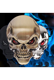 Car/Motorcycle Styling Tank stickers Punisher Skull Car Wheel Center Hub Cap Sticker Emblem Decal For Harley for YAMAHA