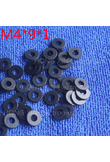 M4*9*1 1pcs Black Nylon Washer Plastic Flat Spacer Washer Thickness circular round Gasket Ring High Quality circular