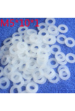 M5*10*1 1pcs White Nylon Washer Plastic Flat Spacer Washer Thickness circular round Gasket Ring High Quality circular