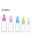OYAKOM 1pcs Plastic Transparent 20ml/50ml Small Empty Spray Bottles For Makeup Skin Care Refillable Bottle Tools Random Color