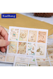 16PCS/Set Creative Paper Stamp Sticker Decoration Decal Diary Album Scrapbooking Envelope Seal Stationery Sticker