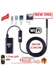 Zjuxin WiFi Endoscope 8mm Lens 1M 2M 3.5M 5M cable iphone endoscope camera IOS android with 6 led mini wifi endoscope