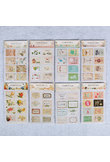 16PCS/1bags Cute Animal Flag Post Stamp Stickers Mini Sticky Note Paper Scrapbooking Pads Stamp Sticker Stationery Sticker