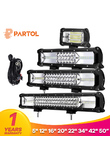 "Partol 5"" 12"" 16"" 20"" 22"" 34"" 42"" Tri-Row LED Light Bar Combo Beam 6000K LED Bar 4X4 4WD Offroad Driving Work Light Truck Camper"