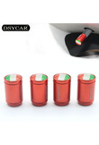 DSYCAR 4Pcs/lot Universal Italy flag Car Moto Bike Tire Wheel Valve Cap Dust covers Car Styling for Universal Cars Motorcycle