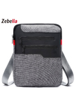 Zebella Casual Mens Messenger Shoulder Bag For iPad Satchel Nylon Travel Business Briefcase Chest Pack Handbag Sacoche Homme