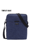 TINYAT Men Handbag Bag New Male Men's Shoulder Bag For Ipad 7.9' Canvas Crossbody Bag Light Waterproof Messenger Bag Casual Blue