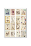64 Pcs/Lot Vintage Stamp Flower Sticker Decoration Decal DIY Diary Album Scrapbooking Envelope Seal Post It Stationery