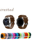 CRESTED 22mm Sports Silicone band for Samsung Gear S3 Frontier/Classic strap smart watch wrist bracelet replacement watch band