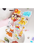 2018 New Real Fireman Sam 1Pcs Zoo Cute Cartoon Animal Bubble Stickers Mini 3D Bubble Sticker For Baby Eduional