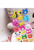 2018 New Animal Pattern Cute Head Portrait Sticker Smiling Face Cartoon Characters Realistic 17cm*7cm Bubble Stickers Kids Toy