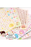 6sheets/pack Cartoon Scrapbooking Stickers Flakes Transparent PVC Stationery Planner Diary Stickers Post It Material Escolar