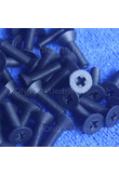 M4*6/8/10/12/15/20/25/30/35/40 black 1pcs Nylon Phillips Countersunk Flat Head Screw Plastic Bolt Plastic Fasteners Assortment