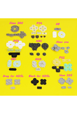 Jing Cheng Da For GB GBP GBA SP Conductive Rubber Silicone Pads Buttons For Game Boy Color GBC Console