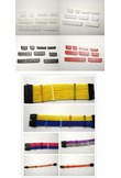 WinfMOD Red/Black/White/Transparent Magazine Clips /Cable Combs / Cable Clamp for 24/16/14/12/8/6/5/4Pin Sleeving Cables