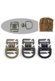 1pc MOLLE Clip Carabiner Sternum Strap Swivel D-Ring Rotation Plastic Buckle Hooks Webbing Locking EDC Gear Outdoor Tool Camping