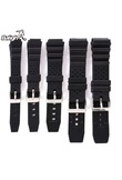 12-22mm Watch Bands Strap Butterfly Pattern Deployant Clasp Buckle Fashion Leather Black Brown Watch Bands