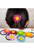 Fashion 1PC 7 Colors Girl Child Lovely Sunflower Hairpin Hair Bands Artificial Flowers Kids Seamless Hair Rope Hair Accessories