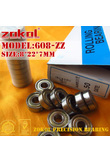 ZOKOL 608 ZZ 2RS RS bearing 608ZZ 608RS P5Z4 Z1 ABEC5 Miniature 608-ZZ Deep Groove ball bearing fidget spinner bearing 8*22*7mm