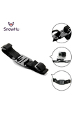 SnowHu for Gopro Accessory Head Adapter Strap Belt for Go Pro Mount Holder Helmet For Gopro Hero 5 4 3+ xiaomi yi sjcam GP04