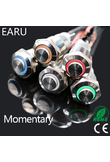 1pcs 12mm High Round Waterproof Momentary Stainless Steel Metal Push Button Switch LED Light Shine Car Horn Auto Reset