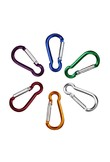 2pcs Aluminum Alloy Colorful D Carabiner Spring Snap Hook Clip Hooks Keychain Climbing Camping Hike Backpack Bag Parts Paracord