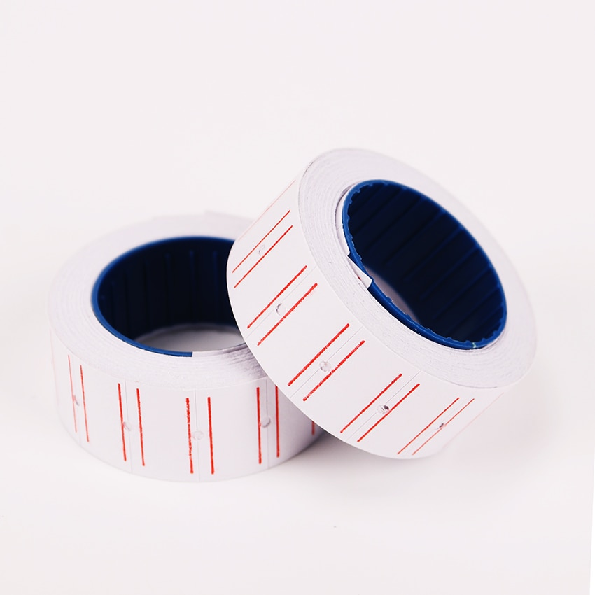 1PC Self Adhesive Price Labels Paper DIY Roll Papers Tag Mark Sticker for Print Price Label Stationery Stickers