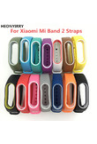HEONYIRRY Colorful Silicone Wrist Strap Bracelet Double Color Replacement watchband for Miband 2 Xiaomi Mi band 2 Wristbands