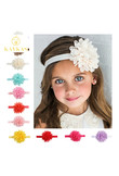KAVKAS New 1 Pcs Girls Headband Newborn Beautiful Baby Girl Hairband Mesh Grid Flower Lace Headband Children Hair Accessories