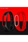 MiBand 2 Silicone Wrist Strap Bracelet Double Color Replacement watchband for Original Xiaomi Mi band 2 Wristbands belt Rubber