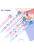 Cute Plastic Mechanical Pencil Lovely Small Bear Press Automatic Pen 0.7mm for Kid School Supplies Gift