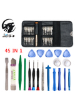 JelBo 45 in 1 Mobile Phone Repair Tool Kit for iPhone iPad Xiaomi Tablet PC Small Toys Hand Tools Set Pry Opening Screwdriver