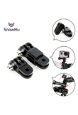 SnowHu for Go Pro Accessories Long Short Straight joint bundle mount For Go pro Hero 6 5 4 SJCAM Xiaomi yi camera accessories