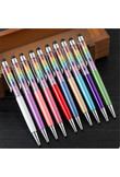 TOMTOSH crystal metal ballpoint pen gem pen handwriting touch screen pen office school products