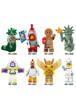 single sale Building Blocks Buzz Lightyear Compatible legoINGly mini Bricks Figures Children Toys unicorn Lady Liberty Medusa
