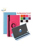 Hot 360 Rotating Flip stand PU Leather Cover For Huawei MediaPad T1 8.0 T1-821 T1-821W T1-823L S8-701U S8-701W Tablet Case+pen