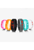 Men Women Fashion Silicone Red LED Sports Bracelet Touch Digital Wrist Watch