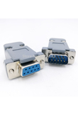 DB9 serial adapter connector Plug D type RS232 COM 9 pin hole port socket female&Male Screw installation + shell DP9