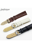 New Leisure Durable Fashion 18/20mm Croco Grain Style PU Leather Watch Band Strap 88 TT@88