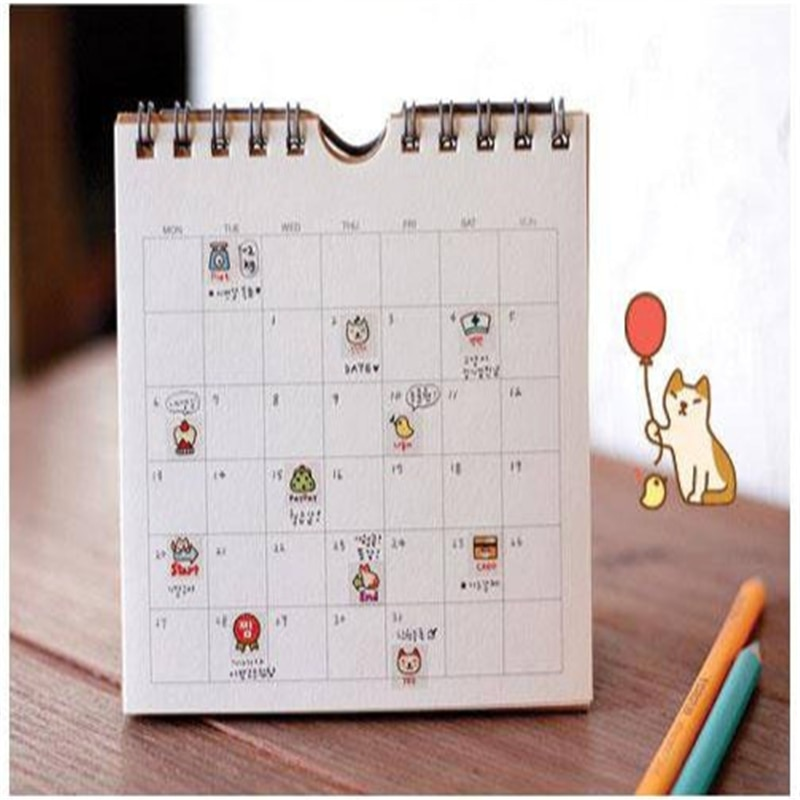 G209 Korean stationery cute cat DIY diaries transparent decorative sticker entry Stationery office supplies for students
